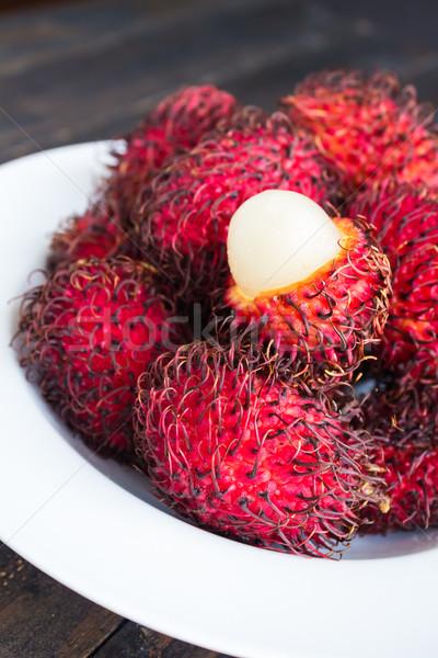 Tropikal tatlı beyaz meyve Stok fotoğraf © LAMeeks