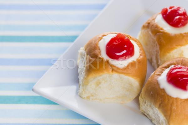 Stok fotoğraf: Krem · peynir · krema · tatlı · meyve · suyu