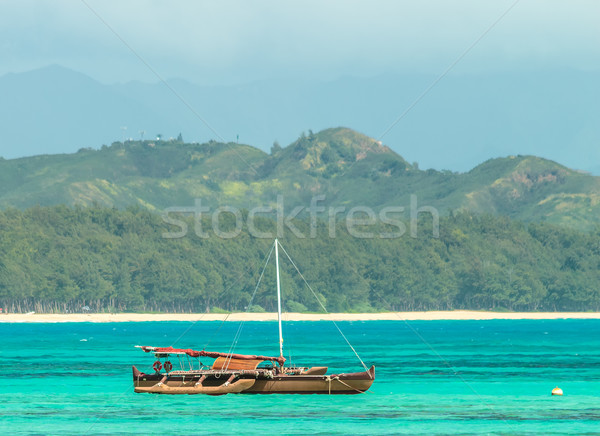 Catamarán agua paisaje mar azul blanco Foto stock © LAMeeks