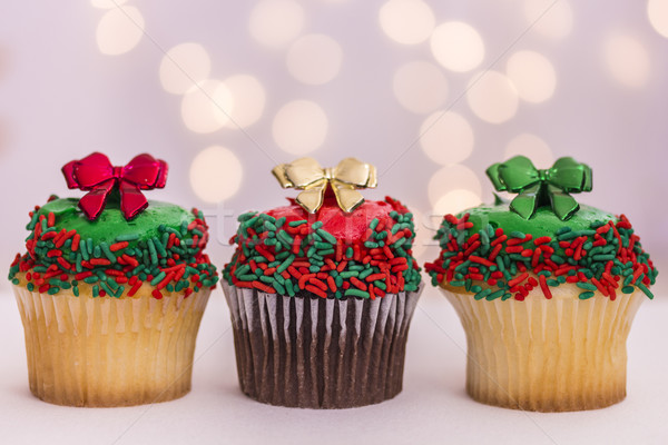 Christmas Cupcakes Stock photo © LAMeeks