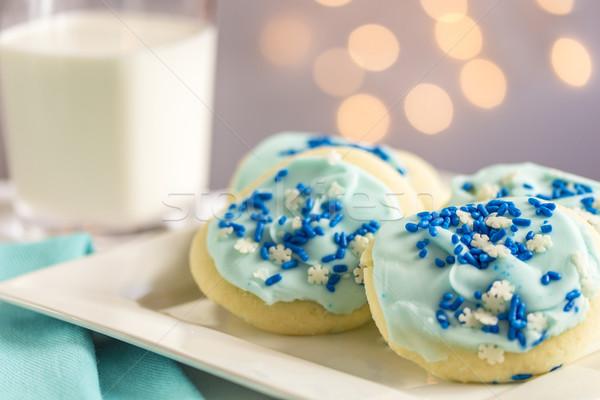 Blue Snowflake Sugar Cookies Stock photo © LAMeeks