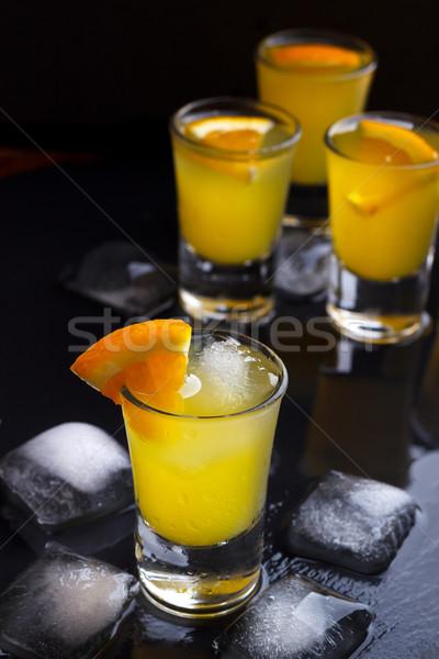 Koktél narancs jég szeletek étel háttér Stock fotó © Lana_M