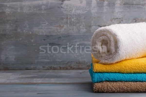 красочный ванны синий деревенский Сток-фото © Lana_M