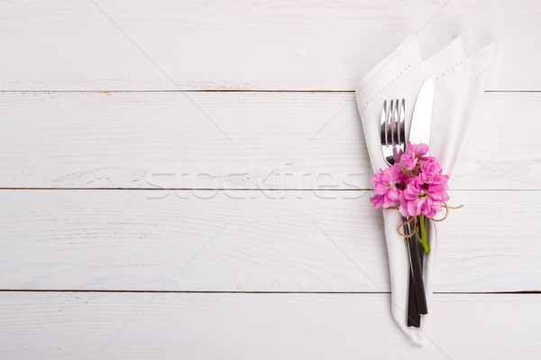 Stock photo: Spring or summer table setting