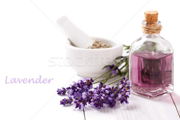 Zdjęcia stock: Lawendy · kwiaty · biały · spa · wellness