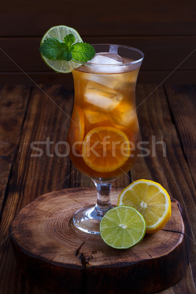 Iced tea with lemon and lime Stock photo © Lana_M