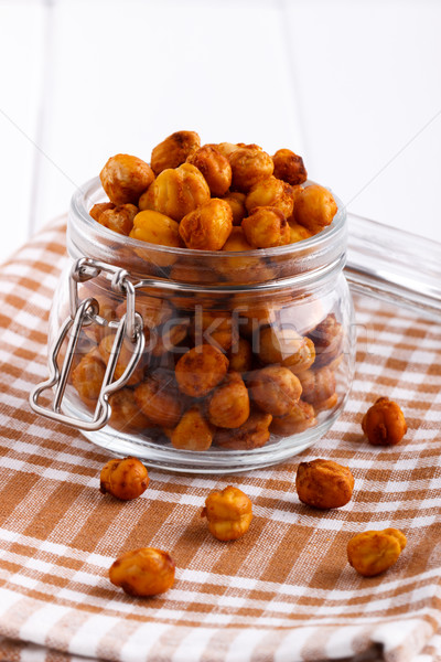 Roasted spicy chickpeas Stock photo © Lana_M