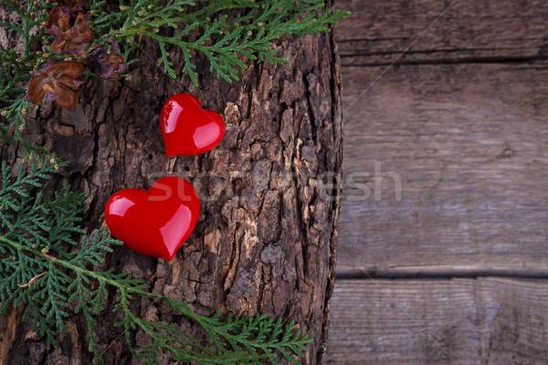 два сердцах свадьба сердце Сток-фото © Lana_M