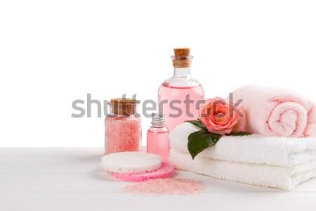 Spa gezondheidszorg geïsoleerd witte bloem gezondheid Stockfoto © Lana_M