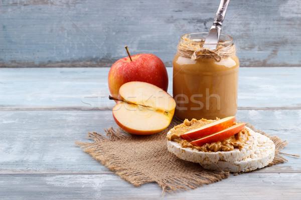 peanut butter on rice cakes Stock photo © Lana_M