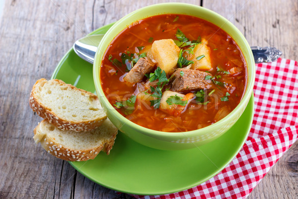 Stock photo: Traditional cabbage soup