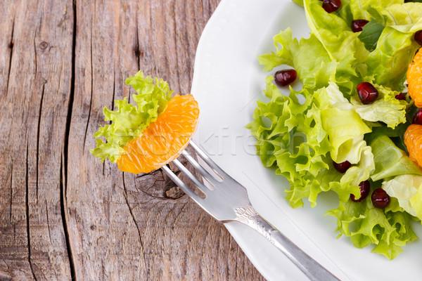 新鮮な サラダ ザクロ クローズアップ 朝食 ディナー ストックフォト © Lana_M