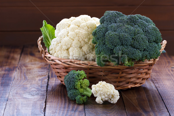 raw cauliflower and broccoli Stock photo © Lana_M