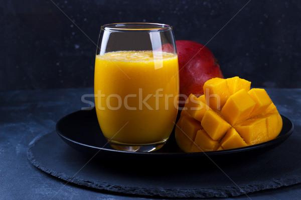 新鮮な マンゴー ジュース 全体 果物 ストックフォト © Lana_M