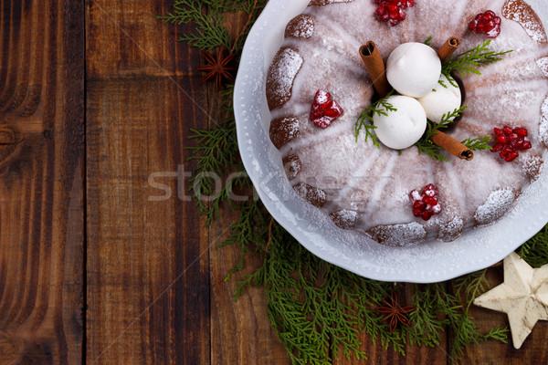 традиционный домашний Рождества торт Vintage Сток-фото © Lana_M