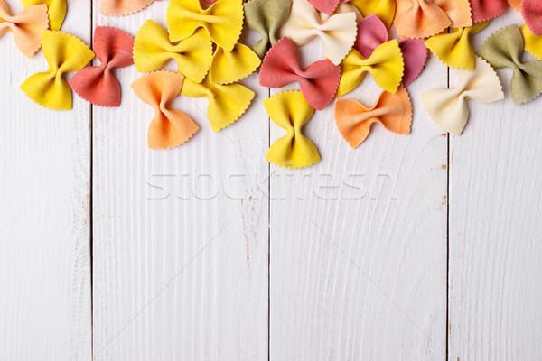 Italian farfalle pasta Stock photo © Lana_M