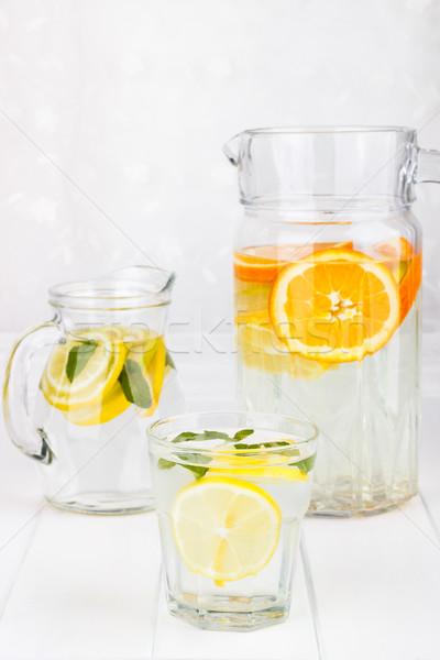 Healthy lemonade from lemon, lime and orange Stock photo © Lana_M