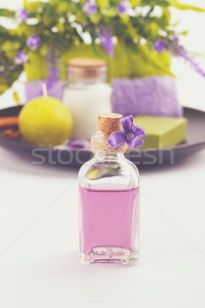 şişe lezzet yağ spa aromaterapi sağlık Stok fotoğraf © Lana_M