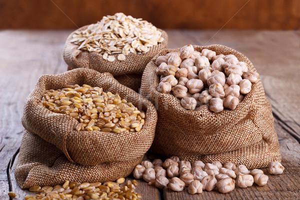 Cereais dieta saudável rústico fundo tabela Foto stock © Lana_M
