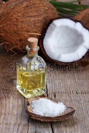 Coconut oil and shells Stock photo © Lana_M