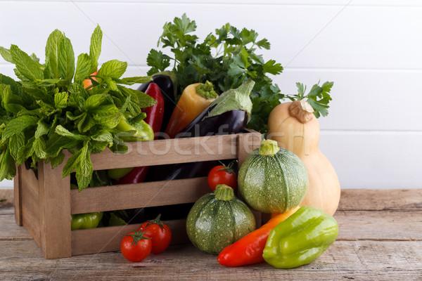 свежие овощи окна продовольствие фон лет Сток-фото © Lana_M