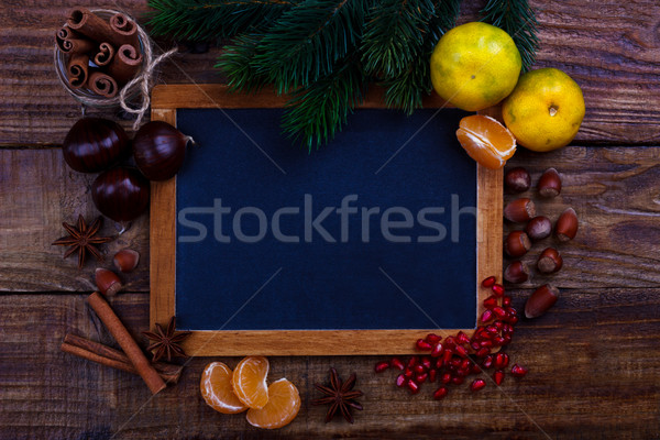 Christmas ingredients background Stock photo © Lana_M