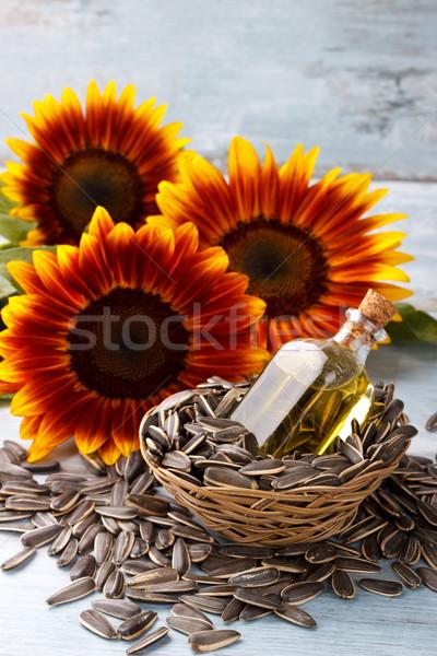 óleo de girassol sementes vintage comida natureza Foto stock © Lana_M