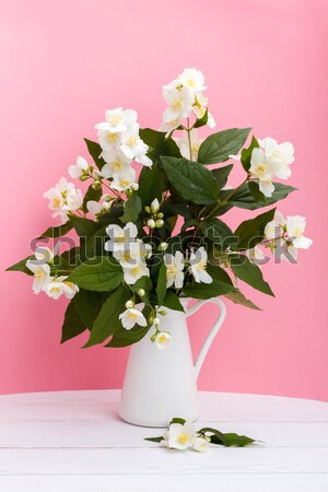 свежие цветы ваза весны лист Сток-фото © Lana_M