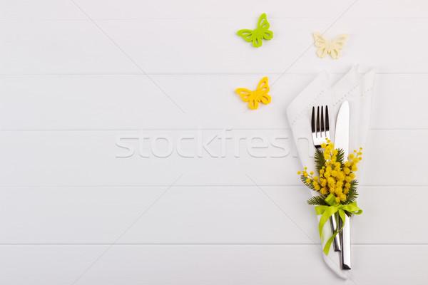весны таблице праздников копия пространства Пасху цветок Сток-фото © Lana_M