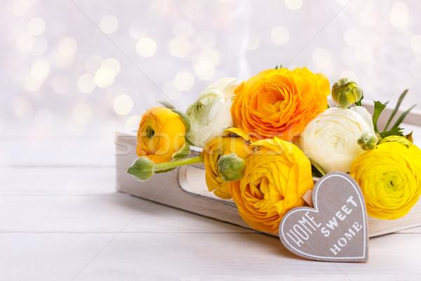букет желтый сердце сообщение Сток-фото © Lana_M
