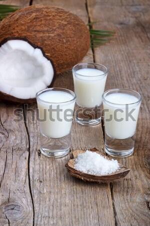 Fresh Coconut milk Stock photo © Lana_M