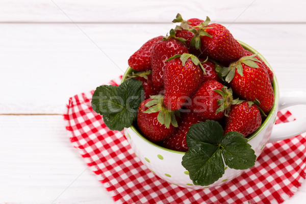 Fresh strawberries in a bowl Stock photo © Lana_M