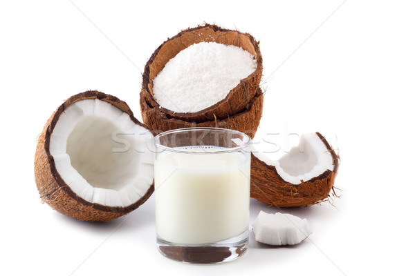 Coconut milk and grounded flakes  Stock photo © Lana_M