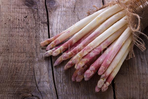 Bunch of white asparagus Stock photo © Lana_M