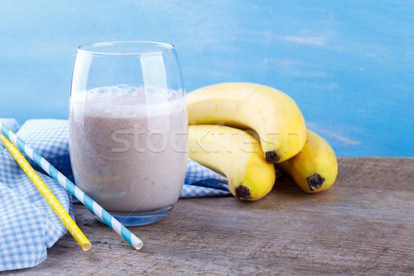 банан молочный коктейль здорового льстец продовольствие Сток-фото © Lana_M