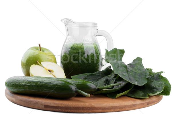 Gezonde komkommer geïsoleerd hout Stockfoto © Lana_M