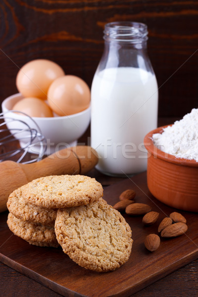 Healthy oat cookies Stock photo © Lana_M
