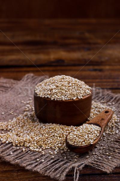 Heap of quinoa seeds Stock photo © Lana_M