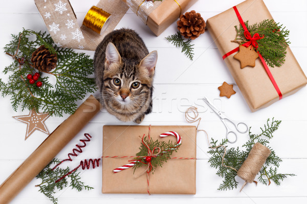 Рождества другой праздник Vintage бумаги Сток-фото © Lana_M