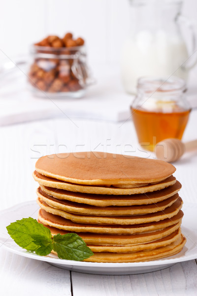 homemade american pancakes Stock photo © Lana_M