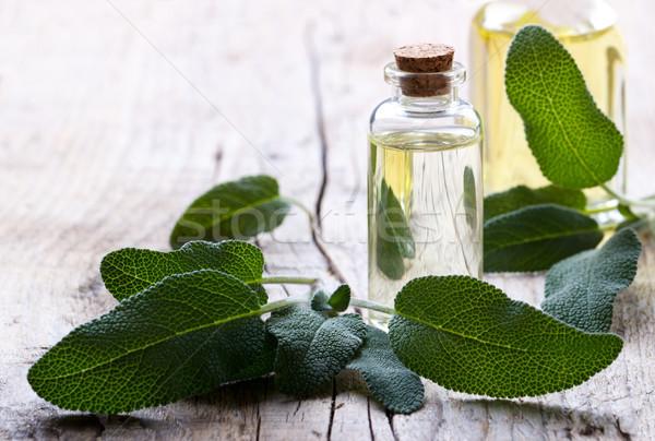 Salvia botella medicina alternativa spa cuerpo Foto stock © Lana_M