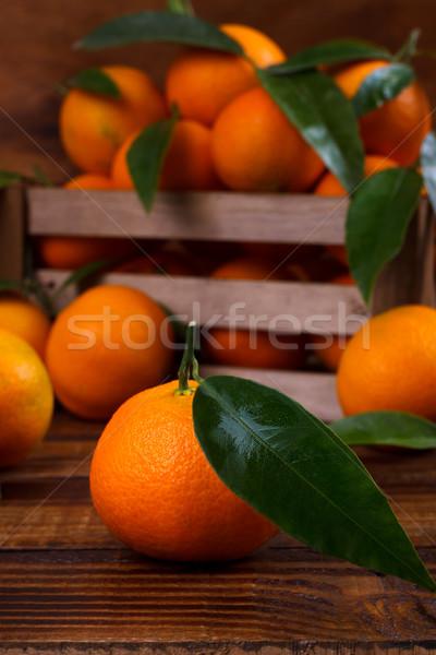 Oude houten voedsel vruchten dessert Stockfoto © Lana_M
