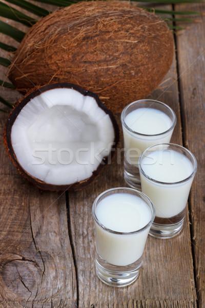 кокосовое молоко снарядов стекла кокосового старые Сток-фото © Lana_M