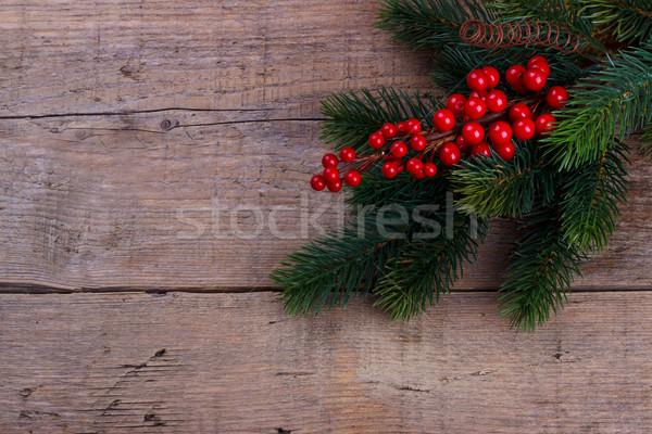 соснового филиала Рождества Ягоды старые Сток-фото © Lana_M