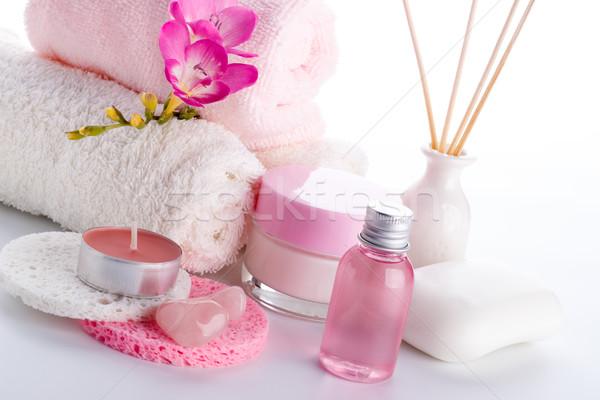 Estância termal bem-estar corpo beleza vela Foto stock © Lana_M