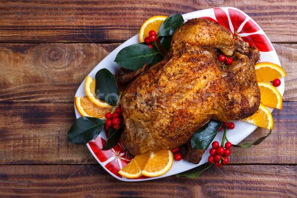 Roasted whole chicken Stock photo © Lana_M