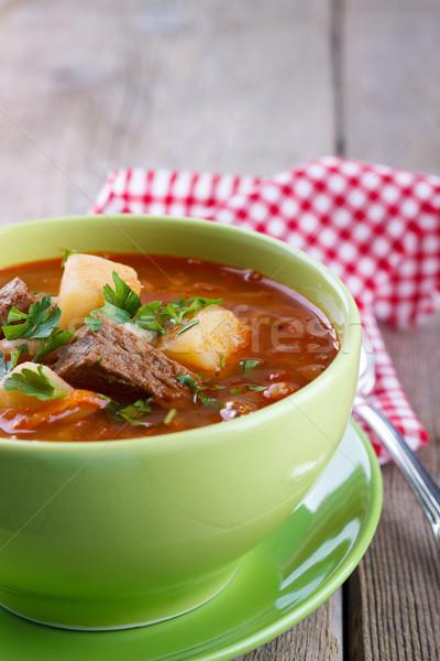 капуста суп традиционный продовольствие кухне таблице Сток-фото © Lana_M