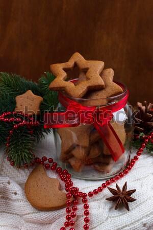 homemade christmas cookies Stock photo © Lana_M