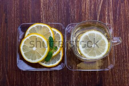cup of lemon tea Stock photo © Lana_M