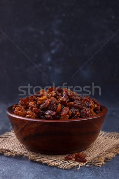 Closeup of sweet brown raisins Stock photo © Lana_M